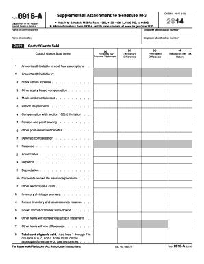 schedule m 3 instructions