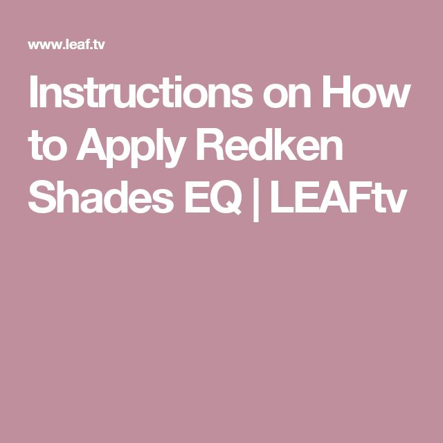 redken clear gloss instructions