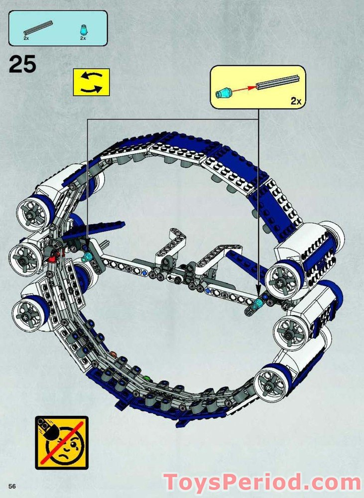 lego jedi starfighter with hyperdrive booster ring instructions