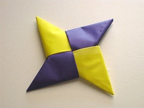3 pointed ninja star instructions