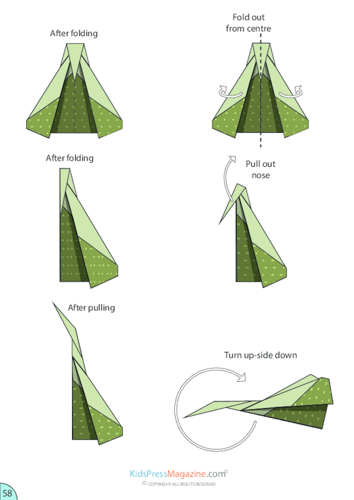 paper airplane folding instructions
