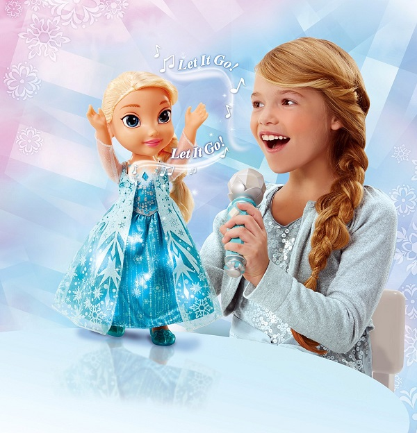 singing elsa doll with microphone instructions
