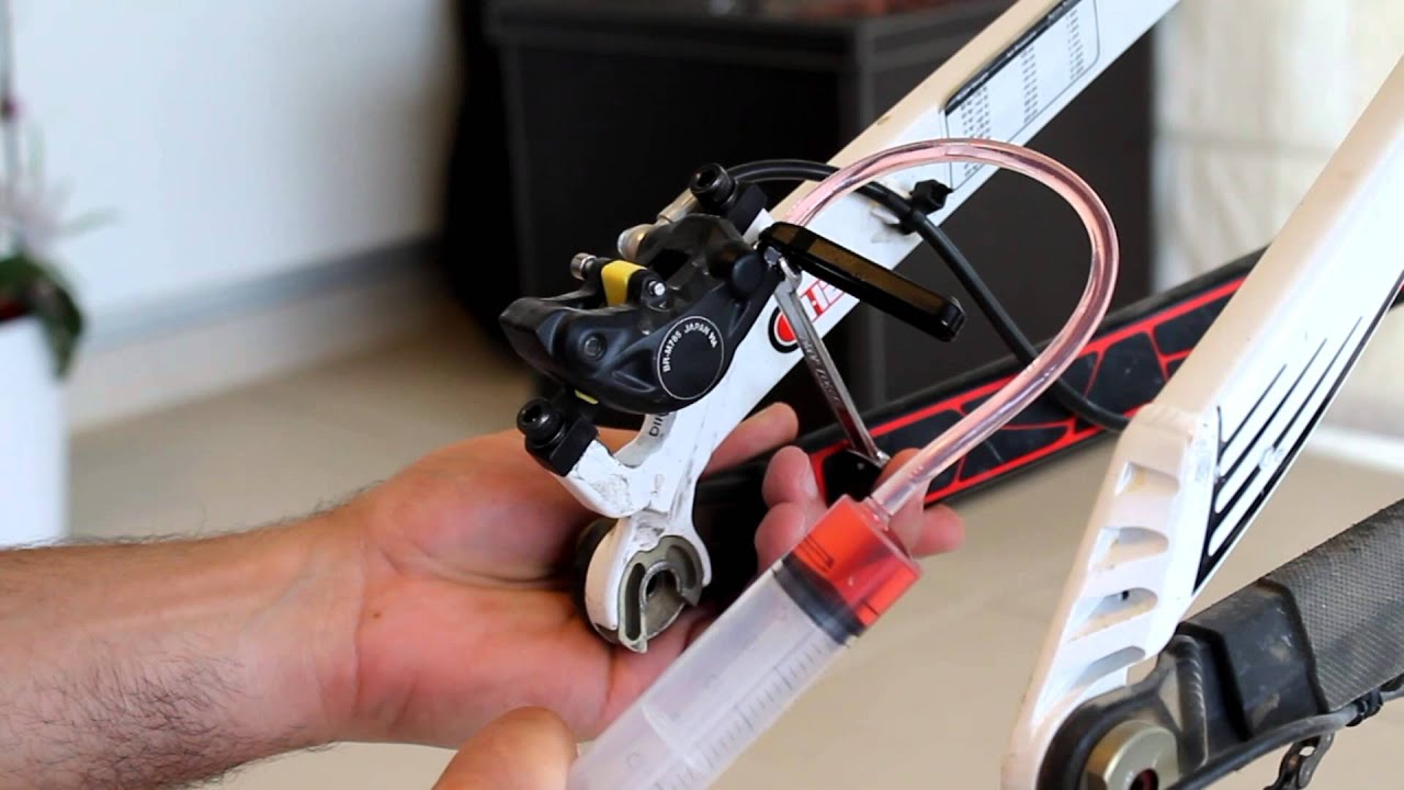 shimano brake bleed instructions