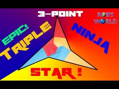3 pointed ninja star instructions