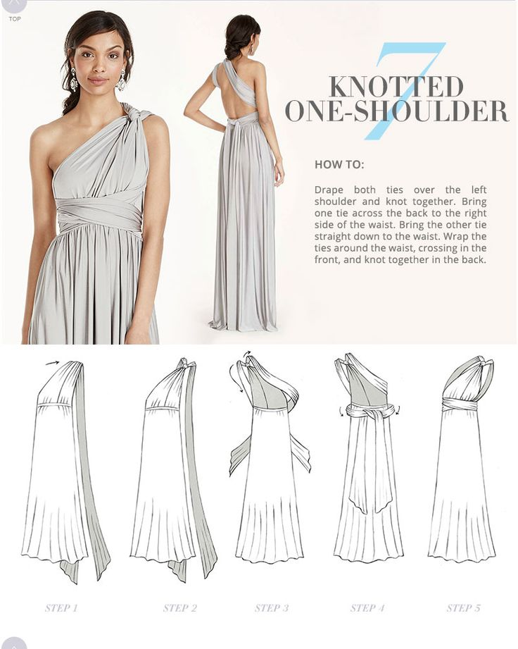 multiway wrap dress instructions