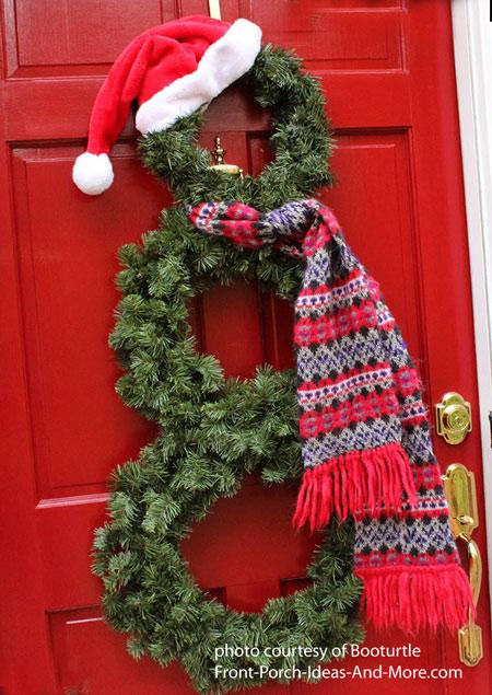 3d snowman door decoration instructions