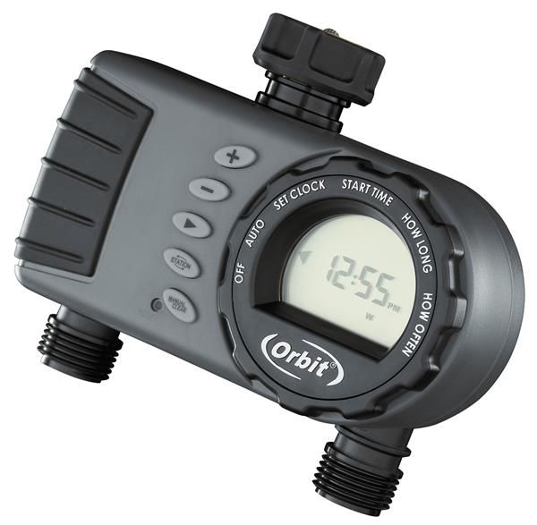 orbit 1 dial 2 outlet hose faucet timer instructions