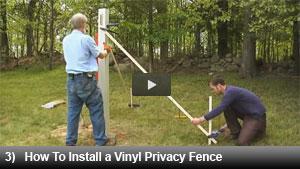 vinyl gate installation instructions