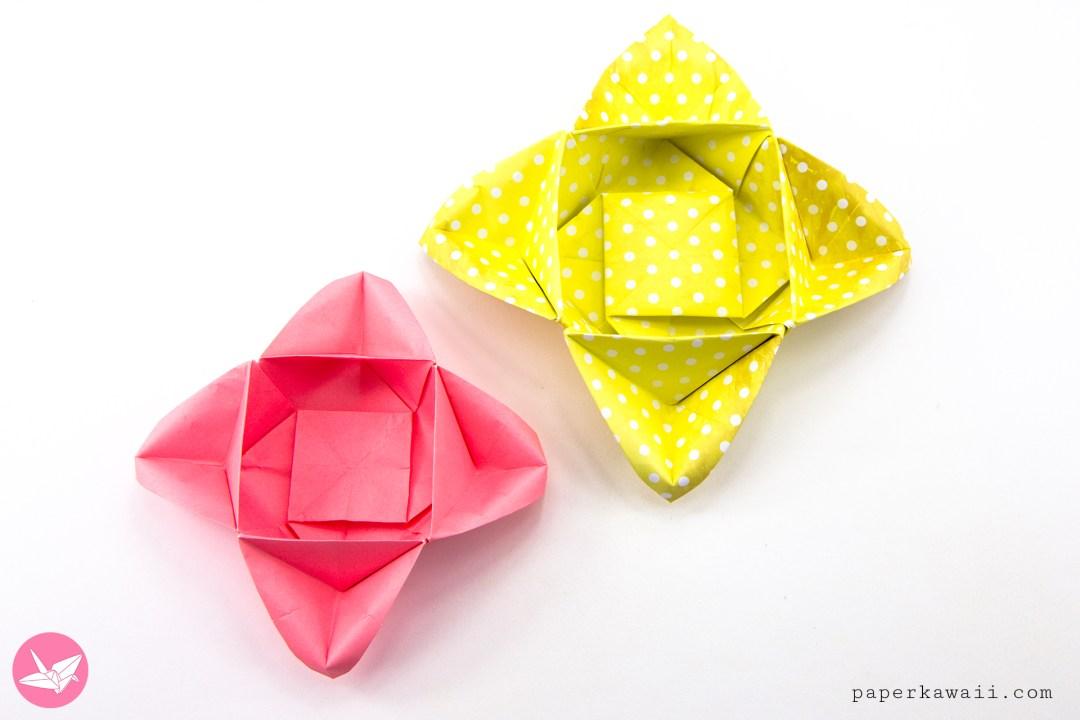 origami star flower instructions