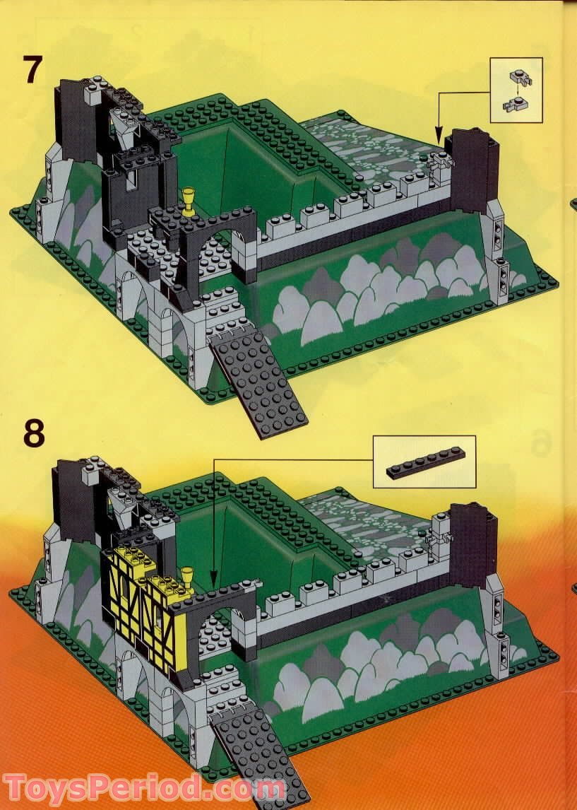 simple lego castle instructions