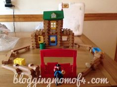 roy toy log building set instructions