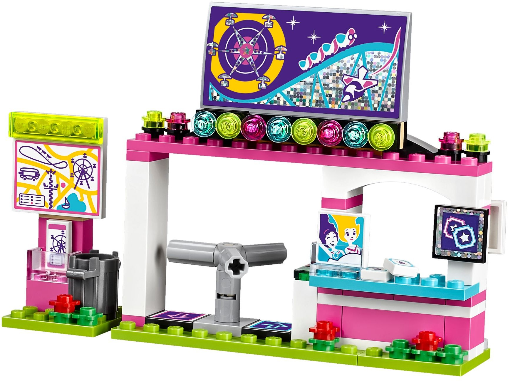 lego friends amusement park roller coaster instructions