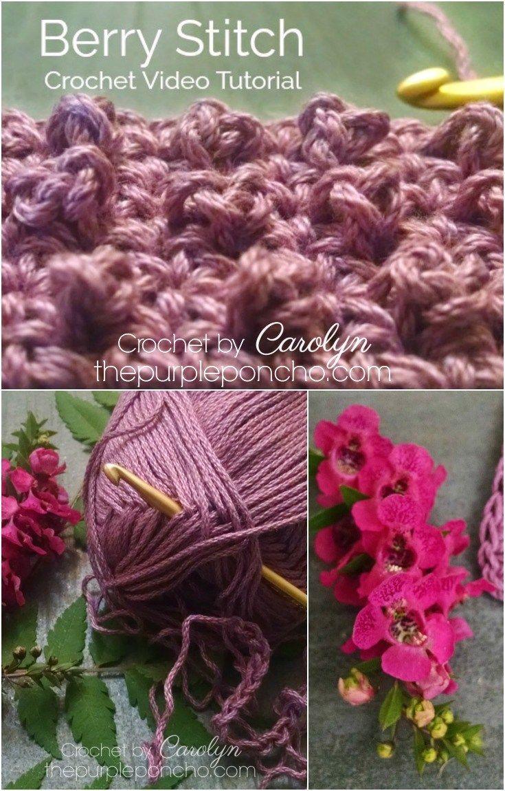 crochet berry stitch instructions