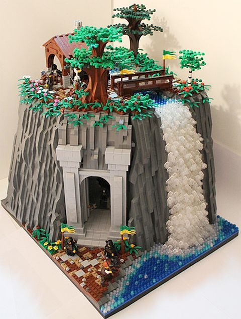 lego minecraft mountain cave instructions