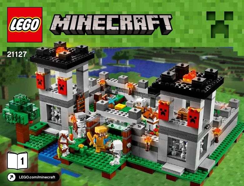lego minecraft instructions the cave