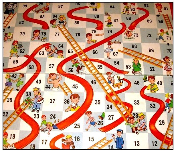 instructions for chutes and ladders board game