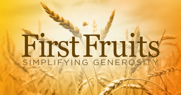 instructions on how to handle first fruit offerings