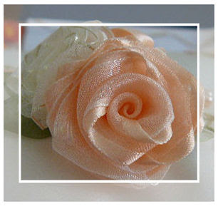 folded ribbon rose instructions
