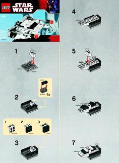 lego star wars mini snowspeeder instructions