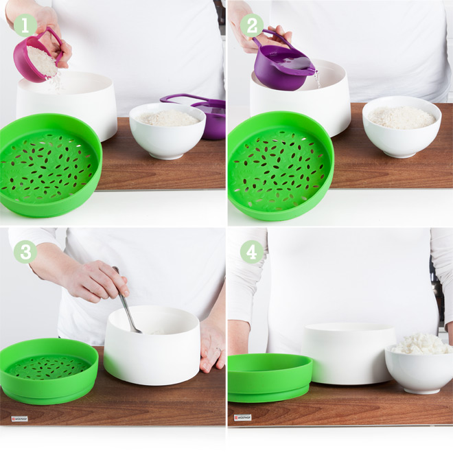 lekue rice cooker instructions