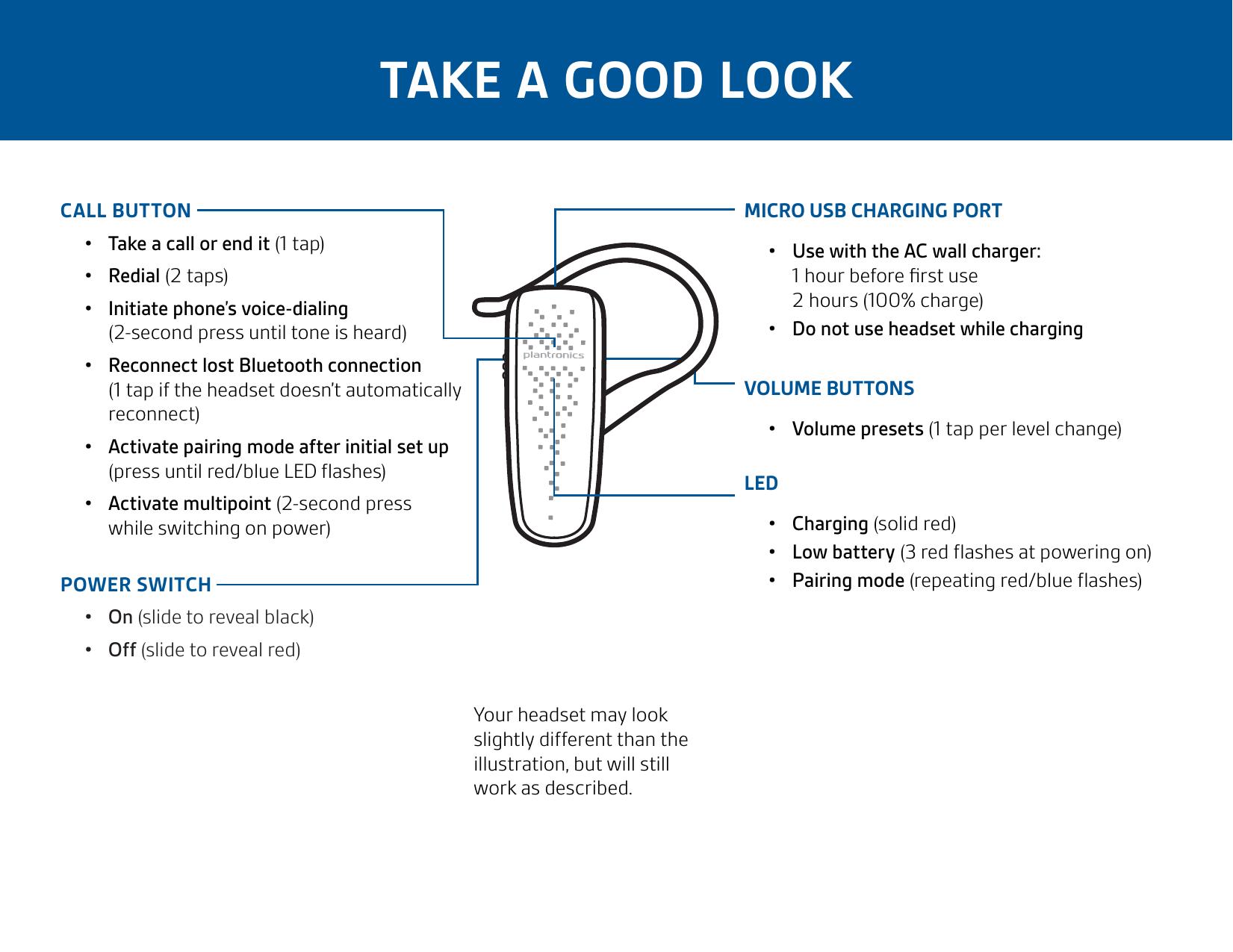 plantronics bluetooth earpiece instructions