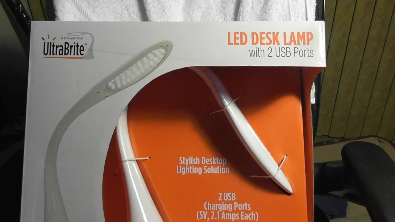 ultrabrite led desk lamp instructions
